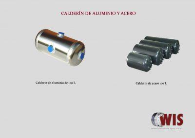 Calderines de acero y aluminio