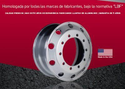 Catálogo llantas de aluminio forjado 2018